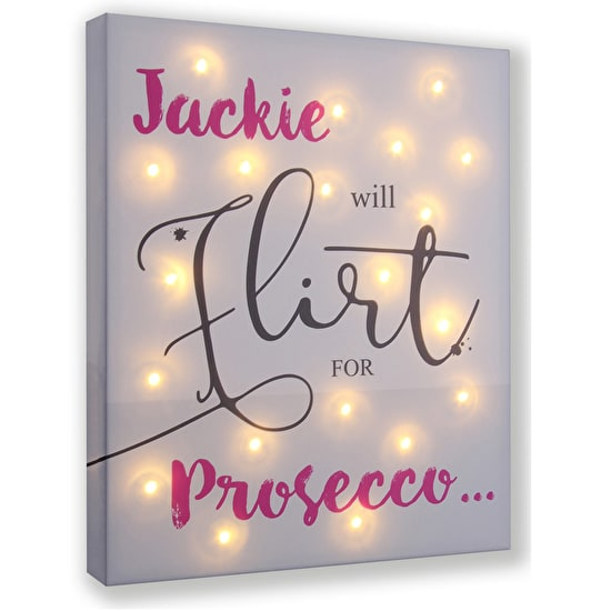 Will Flirt For Light Up Canvas