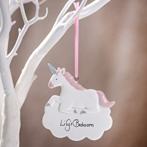 Personalised Unicorn Ceramic Decoration