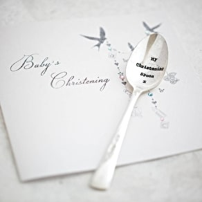 Christening Silver Plated Vintage Spoon