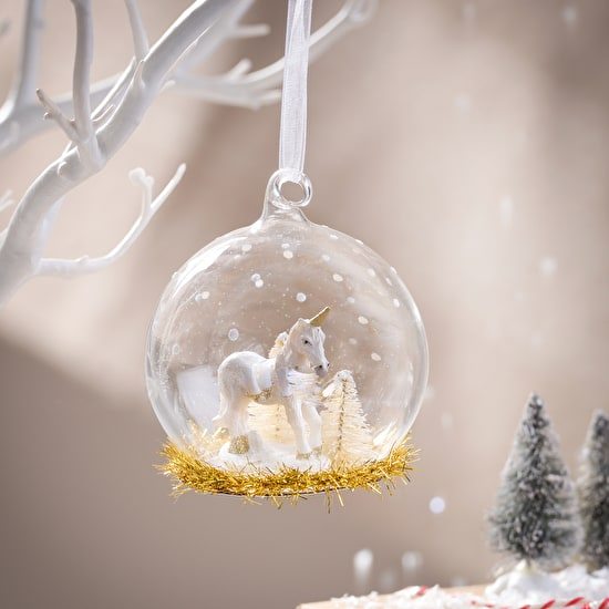 Unicorn Glass Bauble