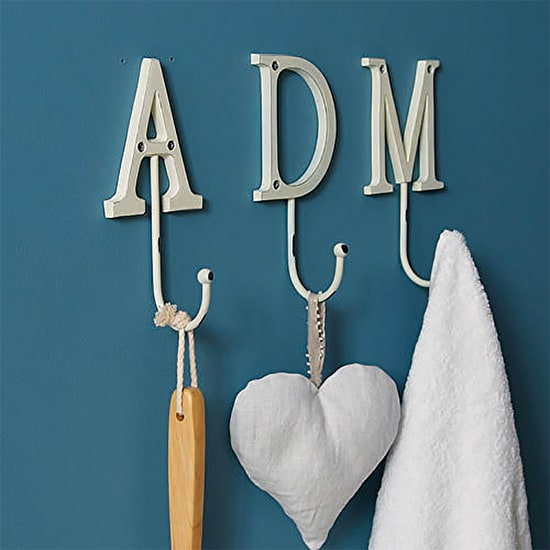 Vintage Style Painted Letter Hook