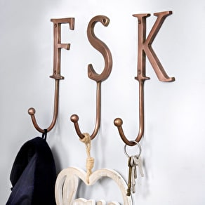 Copper Alphabet Hook