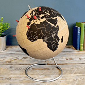 Illuminated LED Globe Light In Concrete Grey