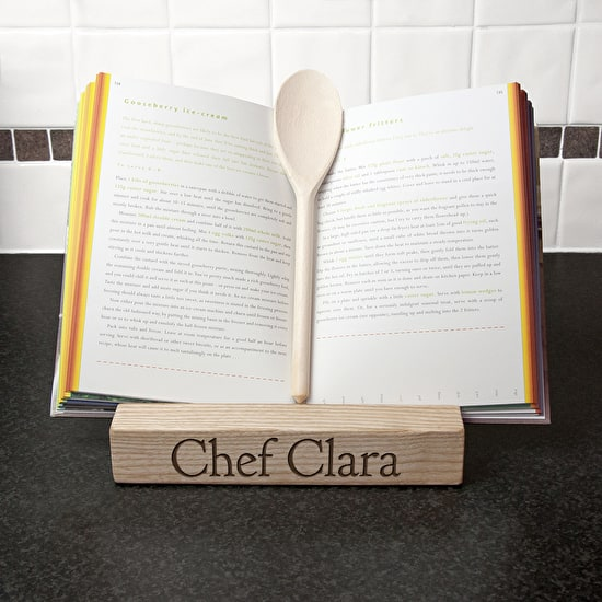 Personalised Double Kitchen Recipe Book or Tablet Holder