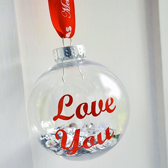Personalised Typographic Christmas Bauble