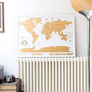 Scratch Map® Original Poster Framed