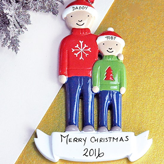 Personalised Modern Family Christmas Decoration
