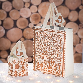 Christmas Copper Gift Bags
