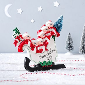 'Stand Up' Sleigh Christmas Decoration