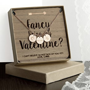 Personalised Valentines Keepsake Necklace