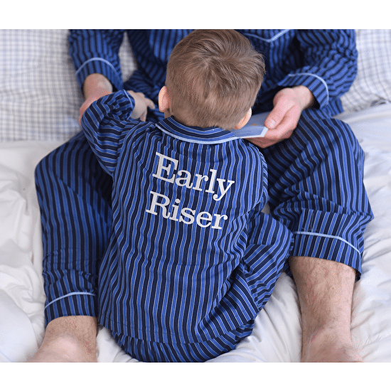Personalised Traditional Button Pyjamas