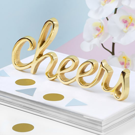 Gold Cheers Decorative Word