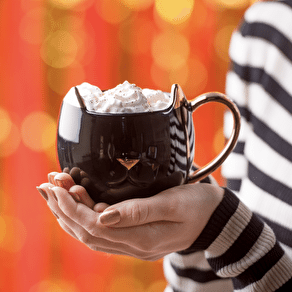 Black Ceramic Cat Mug