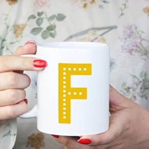 Personalised Bright Letter Ceramic Mug