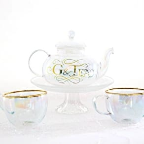 G & Tea Glass Teapot And Tea Cups Gift Set