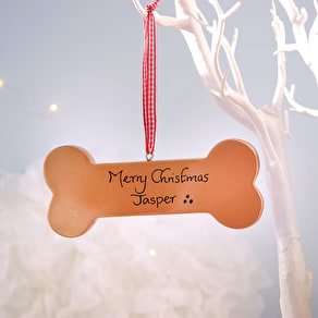 Personalised Pet Bone Hanging Decoration