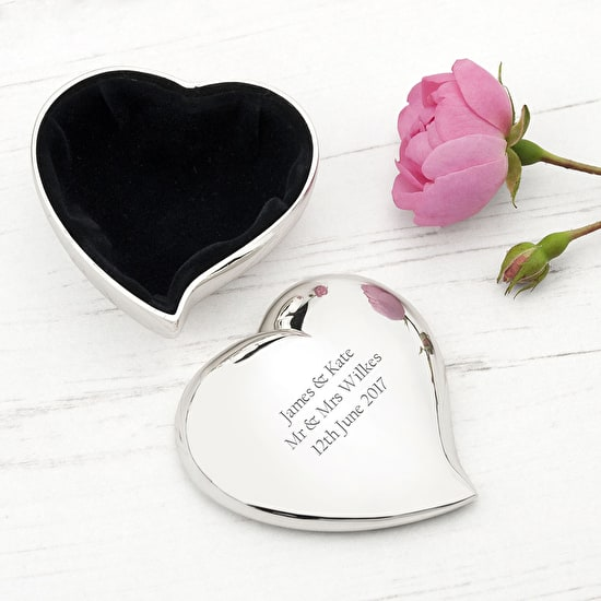 Personalised Heart Keepsake Box