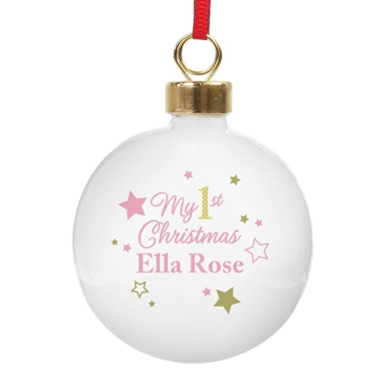 Personalised Babies First Christmas Bauble