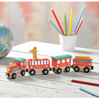 Wooden Circus Train Toy