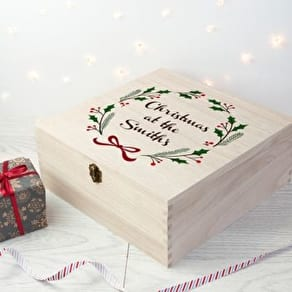 Personalised Jolly Holly Family Christmas Eve Box