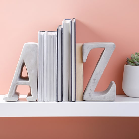 Concrete A Z Book Ends
