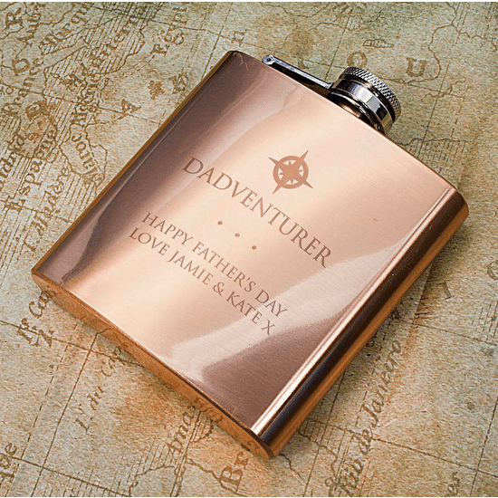 Dadventurer Copper Hip Flask