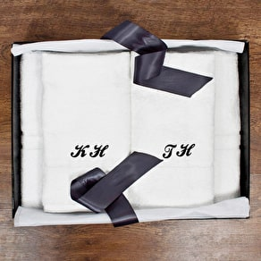 Personalised Floral Tea Towel