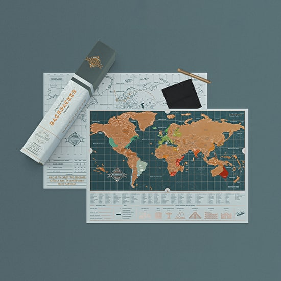 Scratch Map Backpacker Edition,luckies