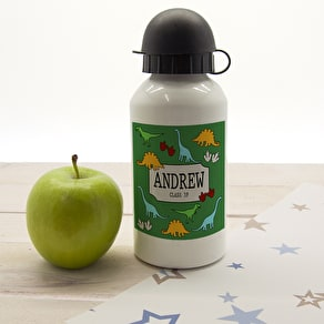 Jurassic Personalised School Water Bottle