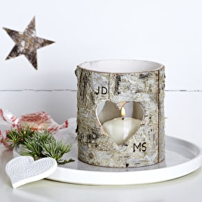 Monogram Tea Light Glass Holder