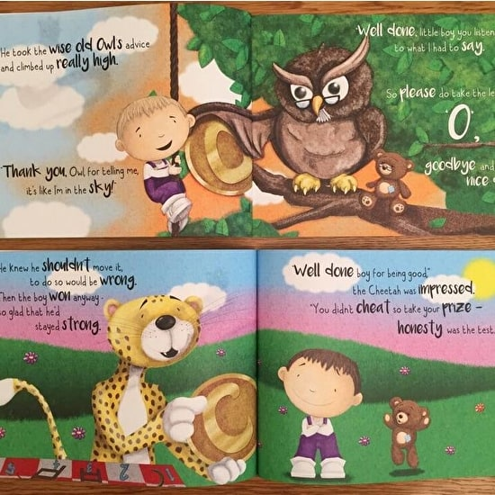 Personalised' Behind The Magic Door' Childs Book