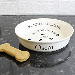 'All you need is Love' Dog Bowl