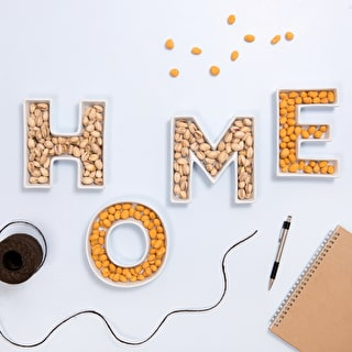 A Set of 'Home' Ceramic Letter Dishes