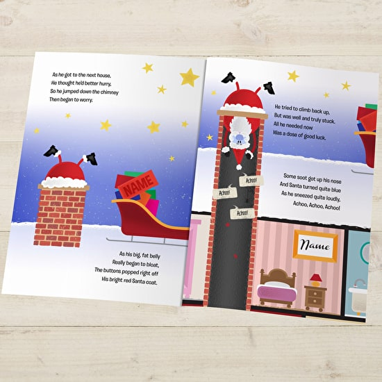 When Santa Got Stuck Up The Chimney' Personalised Book
