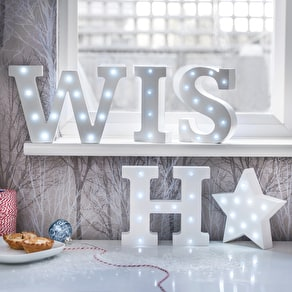 White Light Up Letters
