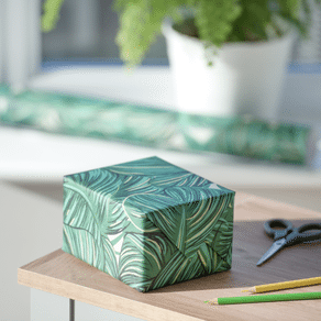 Tropical Palm Leaf Gift Wrap