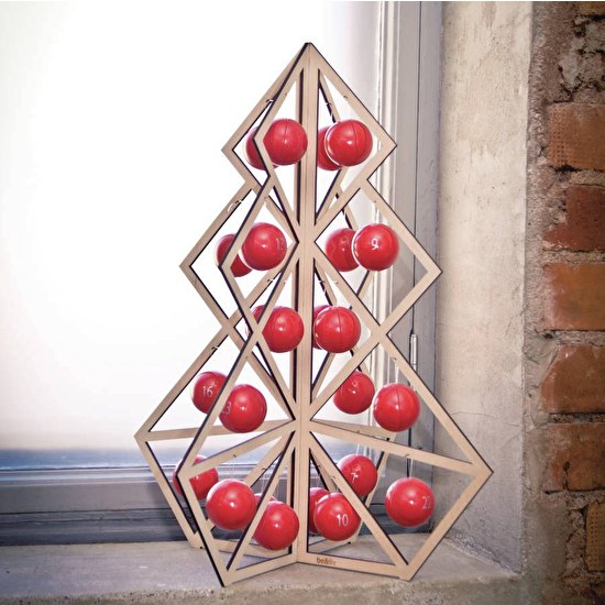 Wooden Advent Christmas Tree