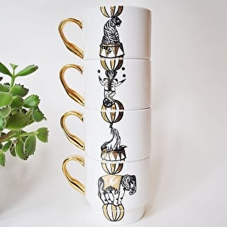 Circus Stacking Bone China Mugs