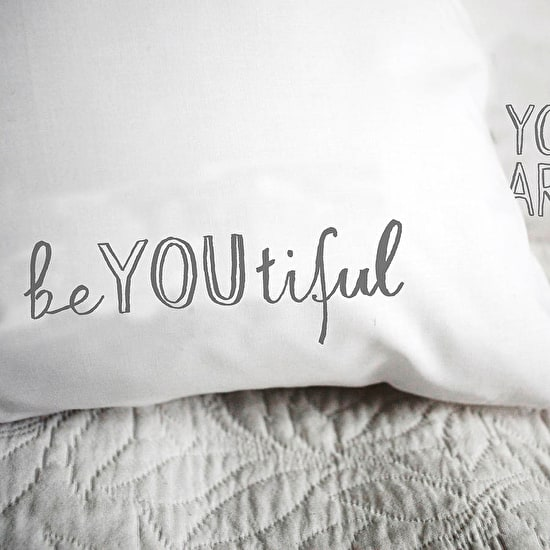 Typographic Couples Pillow Case