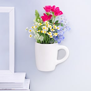 Ceramic Wall Mounted Mug Planter