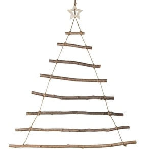 Hanging Wooden Christmas Tree With Star