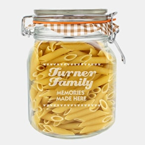 Personalised Retro Label Kilner Glass Jar