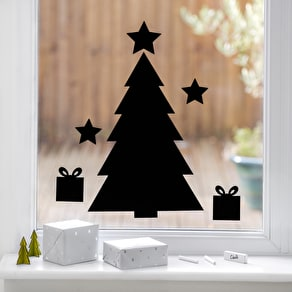 Chalkboard Christmas Tree Wall Sticker