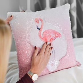 Personalised Reveal Flamingo Cushion