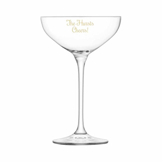 Personalised LSA Champagne Coupe Stack Glasses
