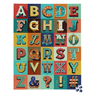 Alphabet Pop Art 1000 Piece Jigsaw