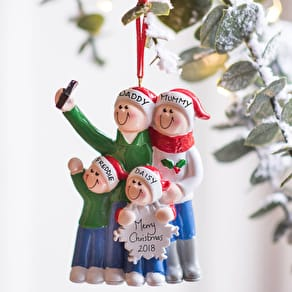 Personalised Family Selfie Hanging Decoration