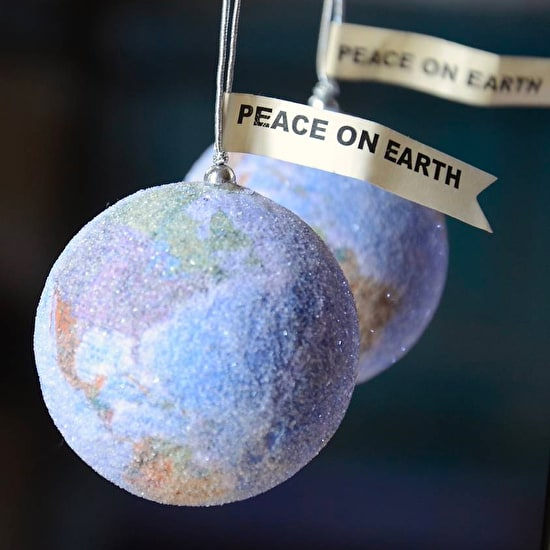 World Peace Glitter Bauble