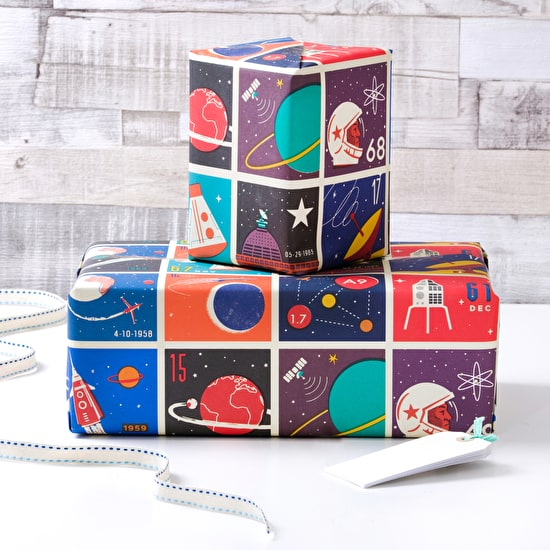 Space Inspired Gift Wrap
