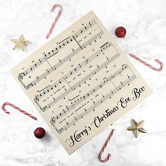 Personalised Musical Design Christmas Eve Box